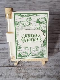 Wunscherfüllerkarte zu Weihnachten: Landhausweihnacht (02)