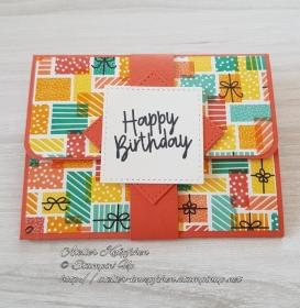 Gutscheinkarte zum Geburtstag: Happy Birthday ~ Geschenke - Handarbeit kaufen