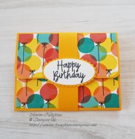 Gutscheinkarte zum Geburtstag: Happy Birthday ~ Luftballons - Handarbeit kaufen