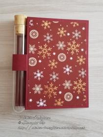 Wunscherfüllerkarte zu Weihnachten: Schneeflocken - Handarbeit kaufen