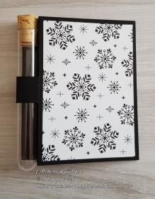 Wunscherfüllerkarte zu Weihnachten: Schneeflocken 01 - Handarbeit kaufen