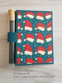 Wunscherfüllerkarte zu Weihnachten: Weihnachtsmützen - Handarbeit kaufen