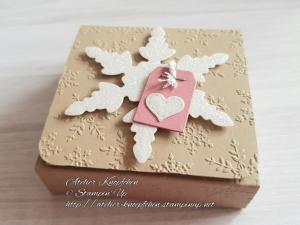 Teebeutelbuch: Funkelnde Schneeflocke - Handarbeit kaufen