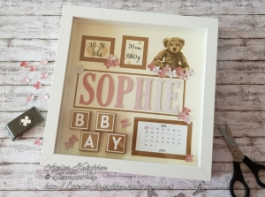 Bilderrahmen zur Geburt / Taufe: Sophie ~ individualisierbar ~