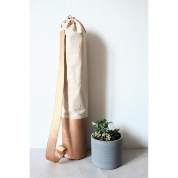Mattentasche aus Kunstleder und Baumwolle kupfer rosé [vegan]