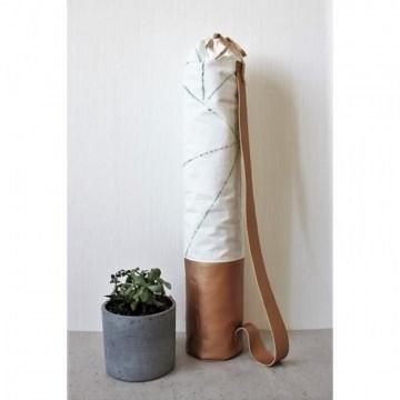 Mattentasche 2.0 aus Kunstleder und Baumwolle kupfer weiß salbeigrün [vegan]
