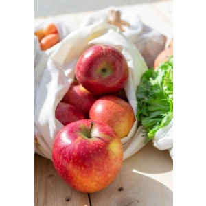 ZERO WASTE  wiederverwendbare Stoffbeutel mit Gewichtsangabe für Hülsenfrüchte, Nudeln & Co. -  aus Bio-Baumwolle für ein plastikfreies Leben  -  4er-Set