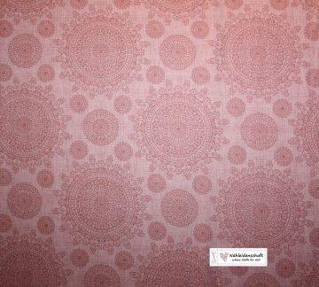 Baumwollstoff Ornamente Kaleidoskop Dan Morris Quilting treasures rosa apricot
