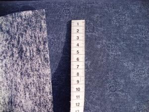 French Terry Rosenbouquet in Jeansfarbe - Handarbeit kaufen