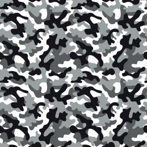 Baumwoll-Jersey Camouflage weiß grau schwarz Jerseystoff Tarnfleck Tarnstoff - Handarbeit kaufen