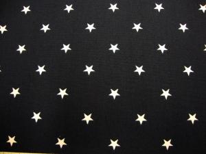 Baumwollstoff mit weissen Sternchen  auf dunkelblau - Handarbeit kaufen