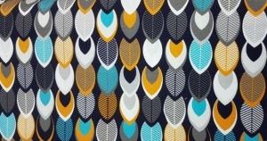 Baumwolljersey Druck mit einem herbstlichen Blättern Herbstzeit Limited Edition Baumwolljersey Malia Design Leafs - Handarbeit kaufen