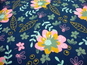Baumwolljersey Beautiful Flower limitierte Auflage Premium Collection - Handarbeit kaufen