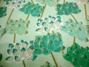 Baumwolljersey Blumenzauber mint tönen limitierte Auflage Premium Collection - Handarbeit kaufen