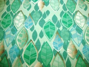 Baumwolljersey Blätterregen mint limitierte Auflage Premium Collection - Handarbeit kaufen