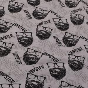 Sweat French Terry Druck Hipster by KATINOH Limited Edition schwarz grau Sweat für Jungs Männer  - Handarbeit kaufen