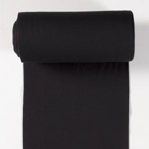 0,50m Bündchenstoff Schlauchware uni schwarz 50cm Schlauch Öko-Tex Standard 100 - Meterware EU Stoffe - Handarbeit kaufen
