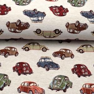 Gobelin Stoff VW Käfer Dekoration Vorhänge Kissen Taschen Kult Käfer made in EU - Handarbeit kaufen