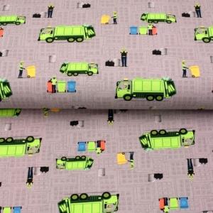 Sweat French Terry Druck–Recycling- Limited Edition by KATINOH Müllautos Mülltonnen Müllmänner Sweat für Jungs Männer made EU - Handarbeit kaufen