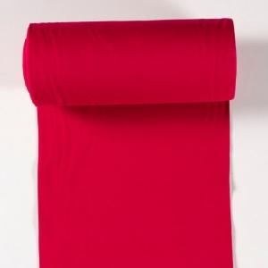 0,50m Bündchenstoff Schlauchware rot 50cm Schlauch Öko-Tex Standard 100 - Meterware EU Stoffe uni - Handarbeit kaufen