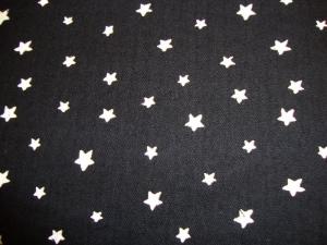 Musselin Stoff Baumwolle Musselin Double Gauze weisse Sterne schwarz weiß Blusenstoff Spucktuch Kleiderstoff  - Handarbeit kaufen