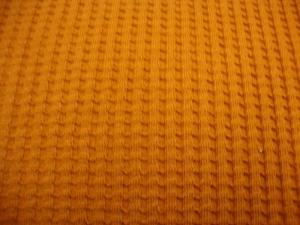 Waffeljersey-Stoff uni rostfarbe Öko-Tex Standard 100 - Meterware Glünz Stoffe Jerseystoffe Waffenmuster Karomuster Glünz - Handarbeit kaufen