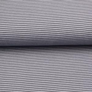 0,50m Baumwolljersey schmale Streifen 3 mm grau hellgrau Ringeljersey Meterware - Handarbeit kaufen