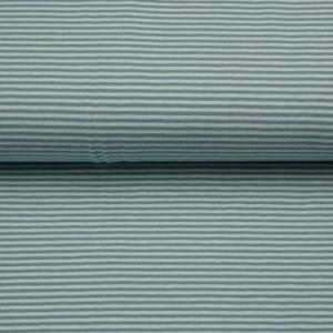0,50m Baumwolljersey schmale Streifen 3 mm lindgrün natur Ringeljersey Meterware  - Handarbeit kaufen