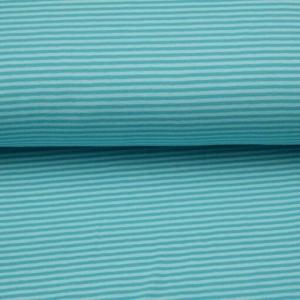 0,50m Baumwolljersey schmale Streifen 3 mm mint hellmint Ringeljersey Meterware  - Handarbeit kaufen