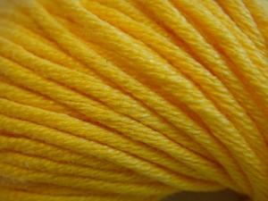 Gründl- Baumwolle, 50gr. , ägyptische Baumwolle, Farbe: 09, sonnengelb
