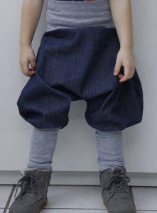Pumphose 86 92 Doppelgröße Jeans Saroulhose Haremshose