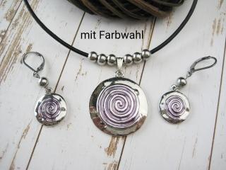 Schmuckset Spirale in verschiedenen Farben