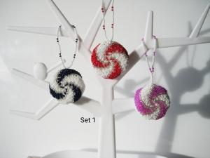 Baumschmuck Spiralen, 3 Stück, Baumbehang, Weihnachten
