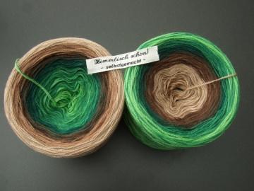 3-fädig gefachtes Farbverlaufsgarn Wolke 7 Zwergenstübchen mit 900m Lauflänge