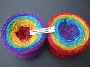 3-fädig gefachtes Farbverlaufsgarn Wolke 7 Regenbogen 900m Lauflänge