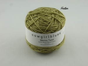 Handgefärbte Merino Twist Solid Heather von Cowgirl Blues