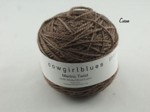 Handgefärbte Merino Twist Solid Cocoa von Cowgirl Blues