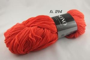Atelier Zitron - Unisono Uni mit Aloe Vera und Jojoba - Farbe 1194 leuchtend orange - Handarbeit kaufen