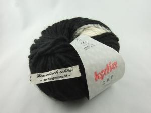 schöne Mützenwolle von Katia Cap Basic Farbe 50 schwarz und weiß - Handarbeit kaufen