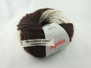 schöne Mützenwolle von Katia Cap Basic Farbe 51 braun und beige - Handarbeit kaufen