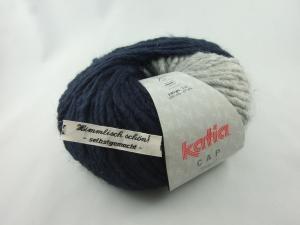 schöne Mützenwolle von Katia Cap Basic Farbe 52 dunkelblau und grau - Handarbeit kaufen