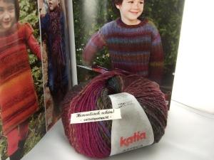 schöne Verlaufswolle von Katia Azteca Farbe 7821 in lila und türiks