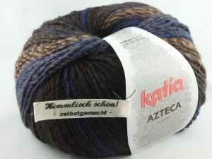 schöne Verlaufswolle von Katia Azteca Farbe 7823 in blau und braun - Handarbeit kaufen