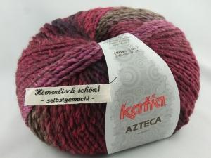 schöne Verlaufswolle von Katia Azteca Farbe 7831 in lila und braun