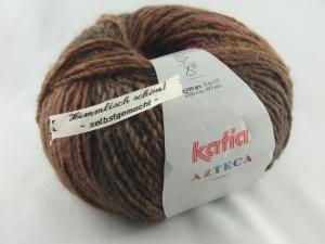 schöne Verlaufswolle von Katia Azteca Farbe 7839 in braun und rostrot - Handarbeit kaufen