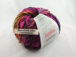 schöne Multicolor- und Effektwolle von Katia Ushuaia Farbe 605 in pink bunt