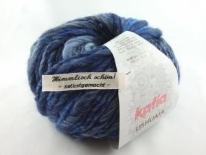 schöne Multicolor- und Effektwolle von Katia Ushuaia Farbe 609 in blau