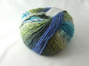schöne Multicolorwolle von Katia Art Wool Farbe 67 in blau, türikis und grün