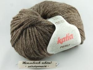 kuschelige einfarbige Wolle mit Alpaka von Katia Peru Farbe 10 in braun