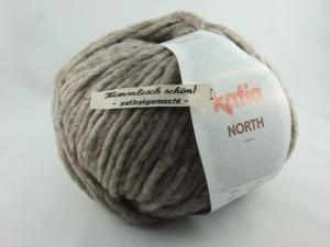 dickes einfarbiges Garn von Katia North Farbe 72 in hellbraun